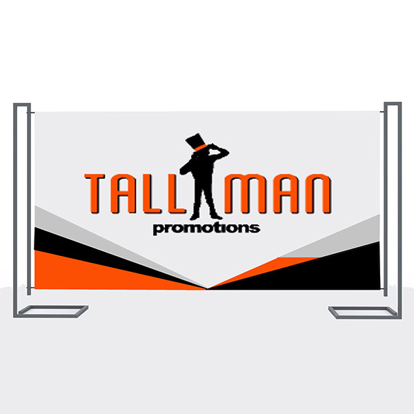 Fabric Banner - Tall Man Promo | #1 Source for Event Marketing
