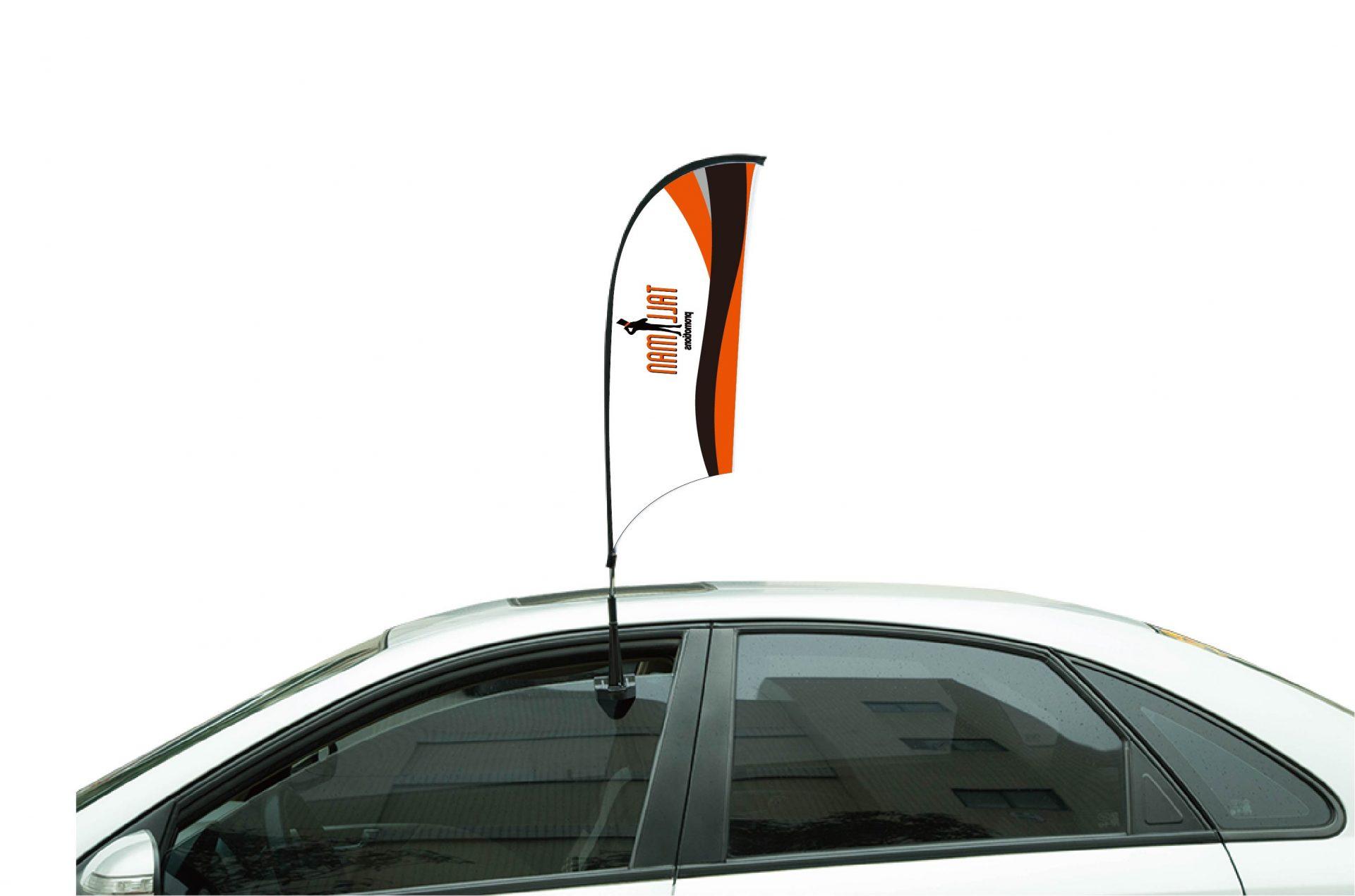 Mini banner flag pennant window mirror cars country banner saint lucia