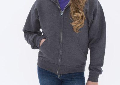 custom kids zip up hoodie